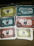 billetes del barco de monopoly 1962 - foto
