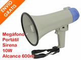 Megáfono Portátil 10W  Sirena 600 Metros - foto