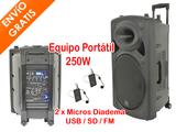 Altavoz Portátil 250W MP3 + 2 Diadema - foto