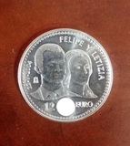 Moneda 12 euros boda principes - foto