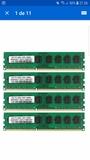 4 módulos pc3 12800u a 1600 1.5v amd - foto