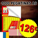 1000 Pegatinas adhesivos A6 BARATO - foto