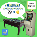 Alquiler futbolin y arcade en barcelona - foto