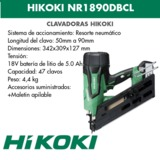 CLAVADORA HIKOKI NR1890DBCL - foto