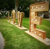 Alquiler letras madera gigantes - foto