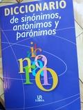 DICCIONARIO DE SINONIMOS ANTONIMOS Y PAR - foto