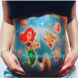 bellypainting sirenita - foto