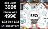 * paginas web, seo y sem – seomarkets * - foto