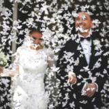 Confeti de mariposas de papel blancas 40 - foto