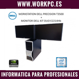Workstation dell + doble pantalla 22\\\\ - foto