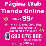 PÁgina web o tienda online desde 99e - foto