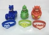 PJ Masks lote 4 Vehículos y pulseras - foto