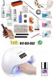 kit uñas acrilicas completo lampara led - foto