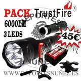 Pack trustfire 6000 lumens solo modo - foto