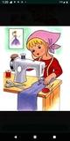 costurera en la línea - foto