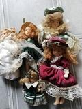 antiguas muñecas de porcelana articulada - foto