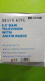 "Televisor tv 5,5"" b/w portatil con radio - foto"