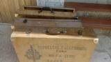 Antiguos cajones de armamento. - foto