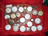 Relojes antiguos lote de 19 relojes - foto