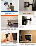 colgar y colocar tv la pared - foto