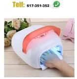 lampara con secador 36w manicura - foto