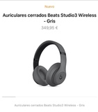 beats studio 3 color gris mate. nuevos - foto