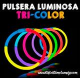 Pulseras Luminosas Tri-Color - foto