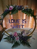 Flores, detalles personalizados, fiesta. - foto