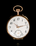 reloj de oro  14k cuerda manual-VENDIDO - foto