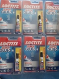 pack  6  loctite super glue 3    gramos - foto