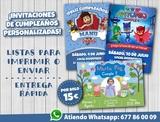 Invitaciones cumpleaÑos personalizadas - foto