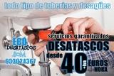 Desatascos sin ácido. desagües Zaragoza - foto