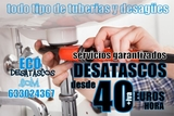 Desatranco desagüe cocina baño Zaragoza - foto