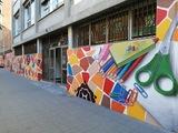Dibuixos amb graffit artístic murals - foto
