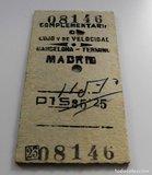 Billete de tren - barcelona -  madrid - foto