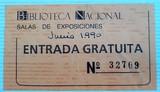Entrada biblioteca nacional año 1990 - foto