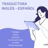 Traductora de inglés y español - foto