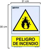 Cartel peligro de incendio camping - foto