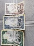 lote de 3 billetes de pesetas años 70 - foto