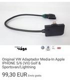 adaptador Volkswagen golf VII Iphone - foto