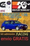 PEUGEOT 106 kit admisión RACING K&N - foto