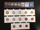 18 monedas nuevas diversos paÍses - foto