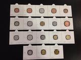 18 monedas nuevas varios paises - foto
