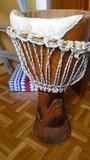 djembe tambor africano grande a reparar - foto