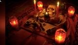 brujo Hechizero de magia negra - foto