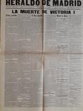 Facsimil periódicos Muerte de Victoria I - foto