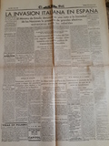 Facsimil, periódico.Guerra Civil España - foto