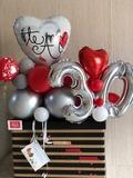 cajas regalo con  globos - foto