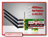 Tarjeta wifi PCI-E - foto