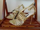 Sandalias doradas Zara - foto